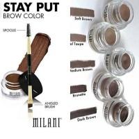 Milani Stay Put EYEBROW Pomade Gel - Waterproof MAkeup /Alis Gel Pomad
