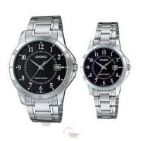 Jam Tangan Couple Fashion Original Casio MTP & LTP-V004D-1B