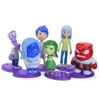 Mainan Anak - Inside Out Figurines with base 6 pcs set