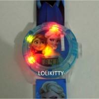 Jam Tangan Anak Hologram Proyektor, Laser, Music Frozen AJP 10