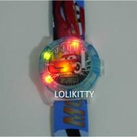 Jam Tangan Anak Hologram Proyektor, Laser, Music Cars AJP 08