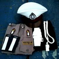 Baju anak setelan komplit seragam polisi anak