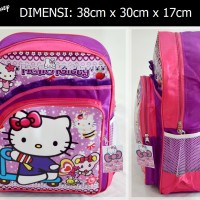 Jual Tas ransel Hello Kitty sekolah SD anak perempuan disney kado ultah Murah