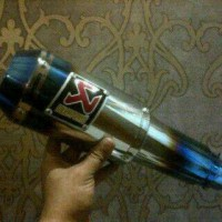 Knalpot Akrapovic MP1 Blue Half (Silencer)