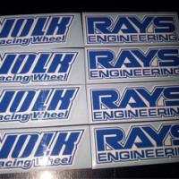 harga Stiker Velg Mobil Volk Rays Engineering TE37 Tokopedia.com