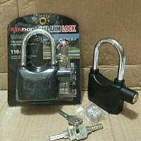 ORIGINAL Kunci Gembok 12cm Bunyi Suara ALARM ANTI MALING KINBAR 12 Cm