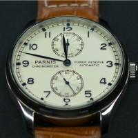 Parnis Automatic Power Reserve Watch 44mm