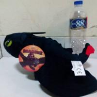 Boneka Toothless naga Night Fury Plush 40 cm HOW TO TRAIN YOUR DRAGON
