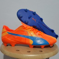 Sepatu Bola Puma Evospeed SL Tricks Blue Orange FG Replika Impor