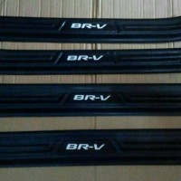 Sillplate / Silplate / Sill Plate Samping BRV Plastik Hitam / Cream