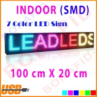 Full color SMD Indoor running text 100x20cm tujuh warna LED Display