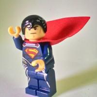 gantungan kunci keychain lego bootleg superman