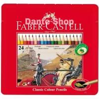Pensil Warna 24 Faber Castell Classic Kaleng