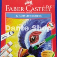 Cat Acrylic Colours Faber Castell 12 Warna