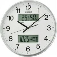 Jam Dinding Seiko QXL013S - Quite Sweep, Thermometer, Hygrometer