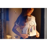 "Tumblr Tee / T-shirt / Kaos ""Dream Catcher"" in White"