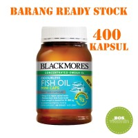 Blackmores Odourless Fish Oil 1000mg Mini Caps 400 kapsul