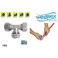Tee T25 COPPER WESTPEX Fitting Air Panas Hot Water T 25 1/2 inch