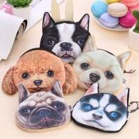 Pouch Kabel - Dompet Koin dengan gambar anjing lucu