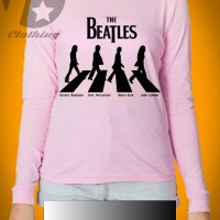 kaos lengan panjang gambar the beatles