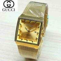 Gucci Pasir Gold (Jam Tangan Wanita Original Murah Cantik Asli Ori)
