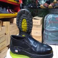 Sepatu safety kulit asli tanggulangin pendek