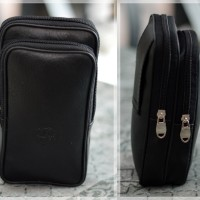 Sarung hp 6 inch tas pinggang dompet army kulit korea pria hiking