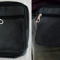 Tas pinggang sarung dompet hp hiking army kulit pria korea gunung baru