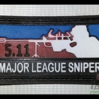 Logo Karet / Emblem / Rubber Patch Major league Sniper Kotak Timbul