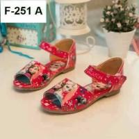 SALE - Sepatu Sandal Anak Frozen Red (Sandal Anak Import) - Small Sz