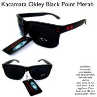 kacamata sunglasses pria okley point merah full set