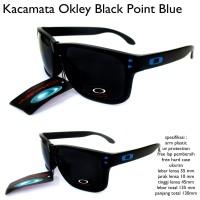 kacamata sunglasses pria okley point biru full set