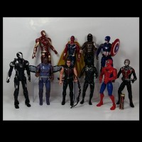 Action Figure Pajangan Superhero Avengers Marvel IronMan Spiderman Dll
