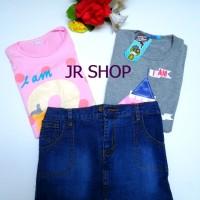 harga Stelan Anak Kaos Dan Rok Jeans 3in1 Swan Korean Kids Seri No.1 Tokopedia.com