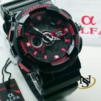 Jam Tangan Alfa Adventure Black Red Original