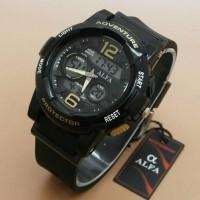 Jam Tangan Alfa Adventure Black Gold Original