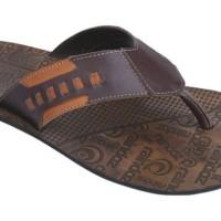 Model Sandal Pria Terbaru Kulit Sol Fiber Cokelat RNZ 393