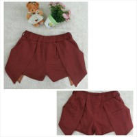 Baju Anak Girl - Celana Rok Anak Import Maroon