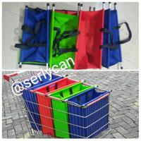 Shopping trolly bag lipat | tas organiser lipat | tas spunbond lipat