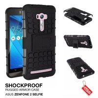 Asus Zenfone 2 Selfie Rugged Shockproof Armor Hybrid Hard & Soft Case