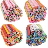 Fimo stick nail art batang grosir 100pcs motif random hiasan kuku diy