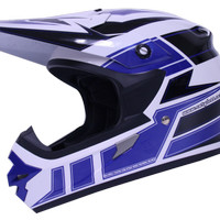 harga Helm Cargloss Full Face Super Moto 3 Snail Cross Fullface Blue Tokopedia.com
