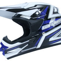 harga Helm Cargloss Full Face Super Moto Snail Cross Fullface Blue Tokopedia.com