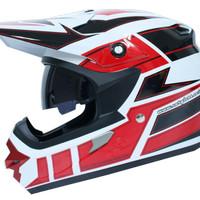 harga Helm Cargloss Full Face Super Moto 3 Snail Cross Fullface Red Tokopedia.com