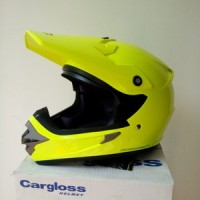 harga Helm Cargloss Full Face Super Moto Snail Cross Yellow Fluo Tokopedia.com