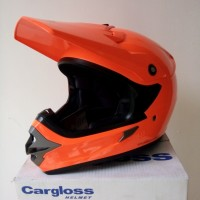 harga Helm Cargloss Full Face Super Moto Snail Cross Orange Fluo Tokopedia.com