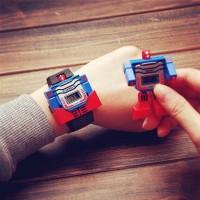 Jual jam tangan anak laki laki / cowo skmei robot original Biru Murah
