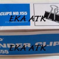 Binder Clips Kenko 155 / Klip / Jepitan / Penjepit Kertas Hitam