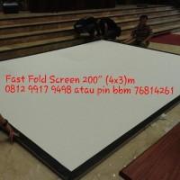 "World Screen Fast Fold 200"" (3x4) m"