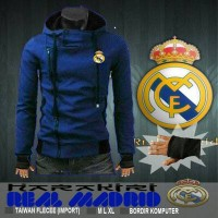 jaket harakiri real madrid blue biru korea cr7 sweater hoodie murah